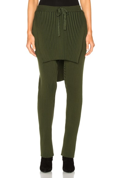 Baja East Cotton Wide Rib Pant in Olive