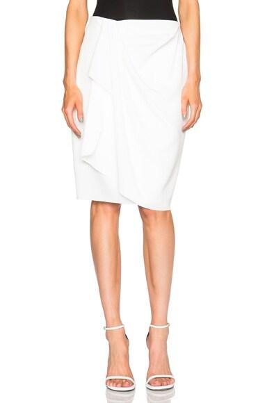 Baja East Satin Wrap Skirt in Pearl