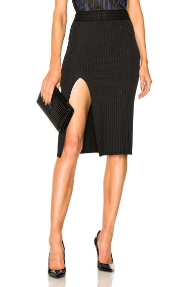 Wide Rib Jersey Slit Skirt Baja East