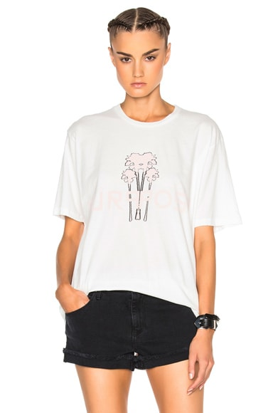 Baja East Justin Beiber Purpose Palm Thriving Tee in Light Pink