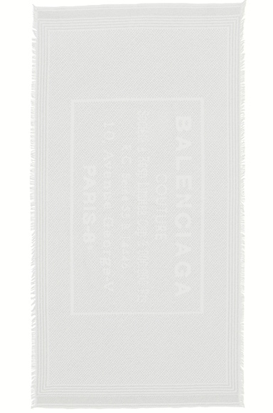 Balenciaga Stamp Terry Towel in Ivory