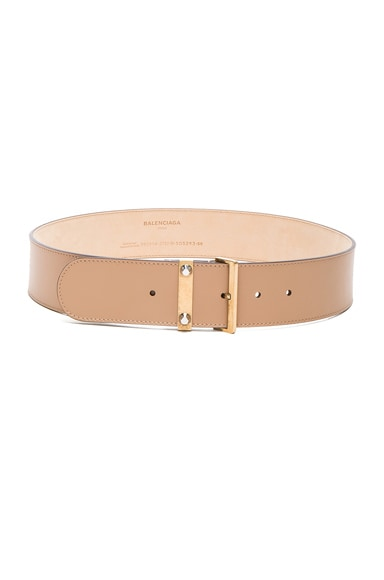Balenciaga Stud Belt in Beige Terracotta