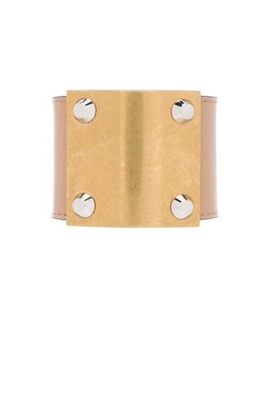 Balenciaga Stud Clasp Cuff in Beige Terracotta
