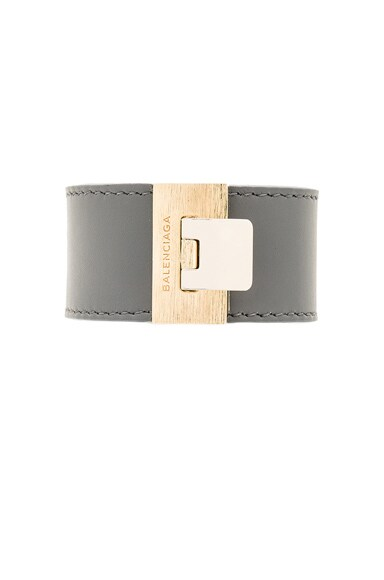 Balenciaga Le Dix Bracelet in Gris Graphite