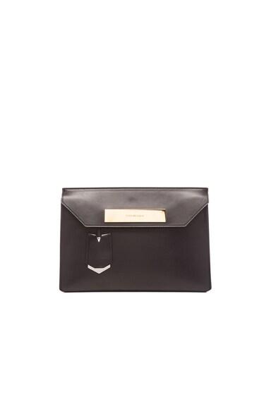 Balenciaga Cable Flap Clutch in Black