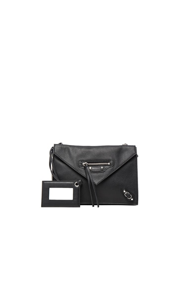 Balenciaga Papier Zip Around Triple in Black