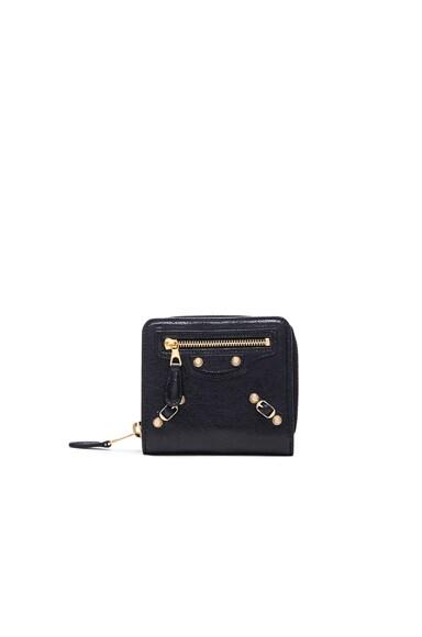 Balenciaga Giant Billfold Zip Wallet in Black