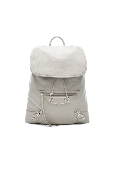 Balenciaga Metallic Edge Backpack in Ice Grey