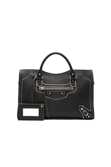 Balenciaga Classic Painted Edge City in Black