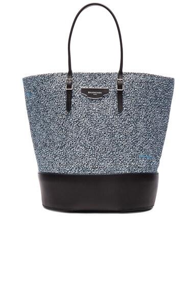 Balenciaga Cabas Maxi Tote in Bleu & Noir