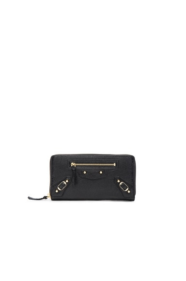 Balenciaga Classic Continental Wallet in Black
