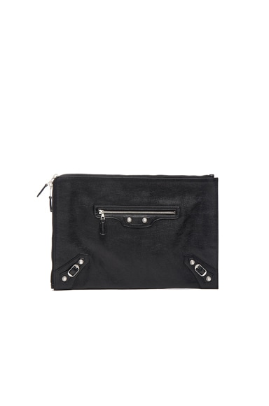 Balenciaga Giant Arena Pouch in Black