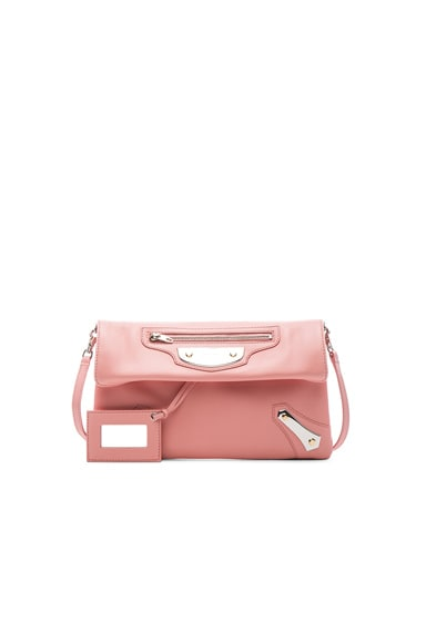 Balenciaga Metal Plate Envelope in Petal Rose