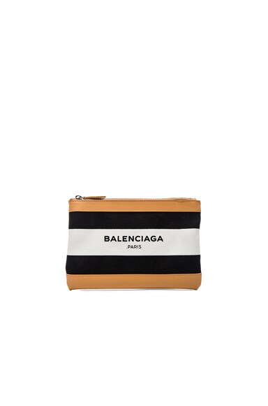 Balenciaga Small Navy Clip in Black & White