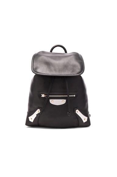 Balenciaga Metal Plate Traveler Backpack in Black