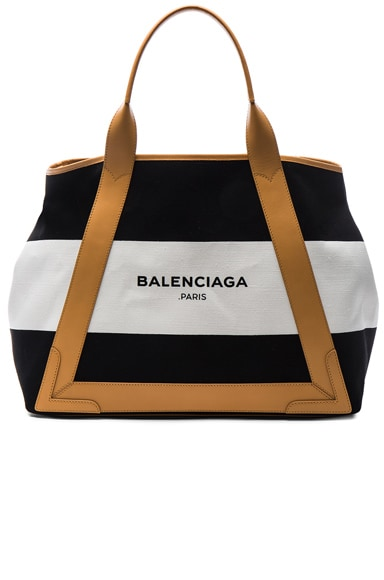 Balenciaga Medium Navy Canvas in Black & White
