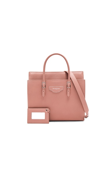 Balenciaga Small City Plate Portfolio in Old Pink