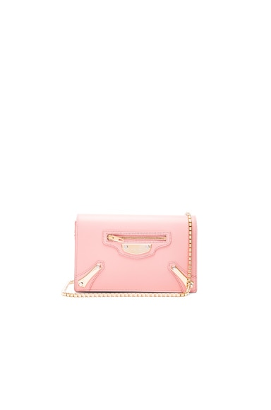 Balenciaga Metal Plate Chain Bag in Petal Rose