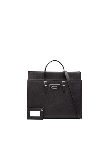 Balenciaga Medium City Plate Portfolio in Black