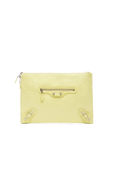 Balenciaga Giant Pouch in Citron Yellow