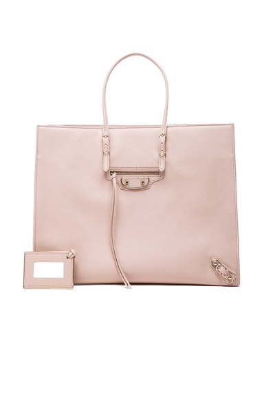 Balenciaga Papier A4 Tote with Pale Gold in Nude