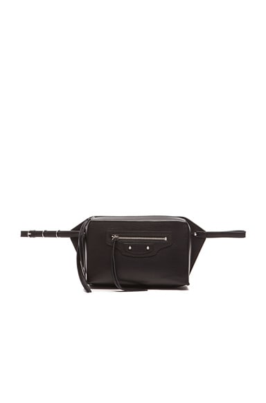 Balenciaga Papier Zip Around Belt in Noir