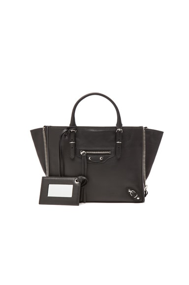 Balenciaga Papier Zip Around Mini in Black