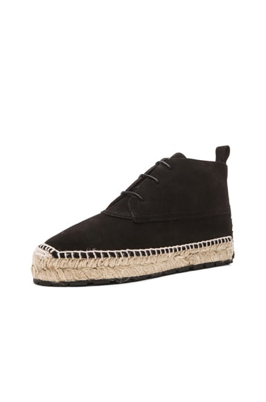 Espadrille Suede Ankle Boots