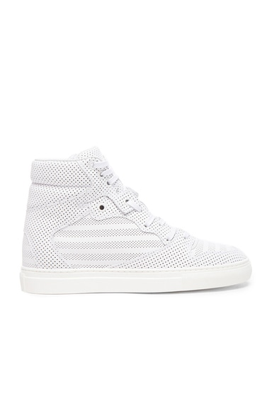 Balenciaga Calfskin Trainers in White
