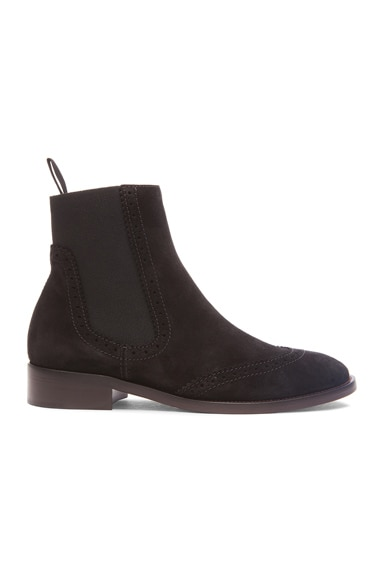 Balenciaga Split Leather Chelsea Boots in Black