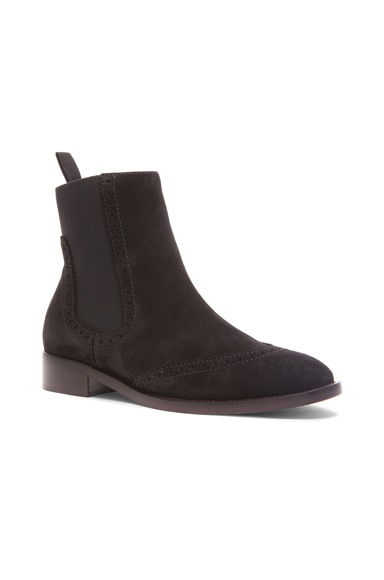 Split Leather Chelsea Boots