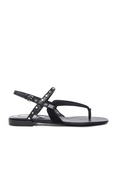 Balenciaga Studded Suede Sandals in Black