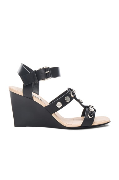 Balenciaga Studded Wedges in Black