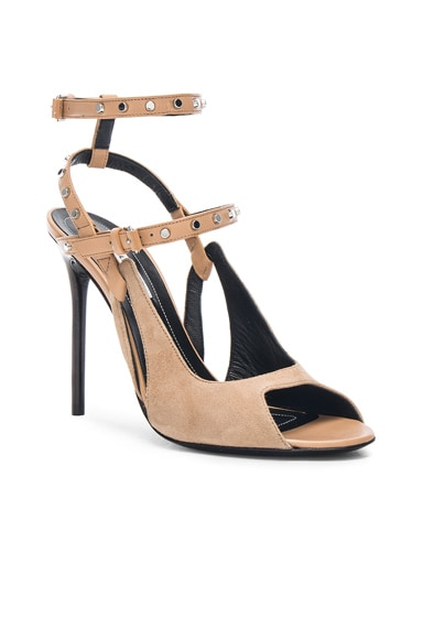 Leather & Suede Strappy Heels