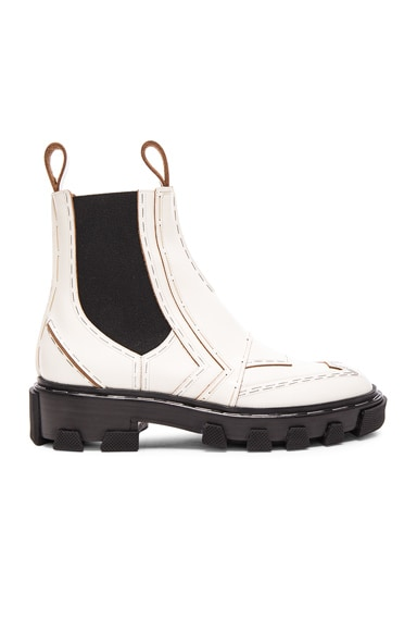 Balenciaga Leather Boots in White