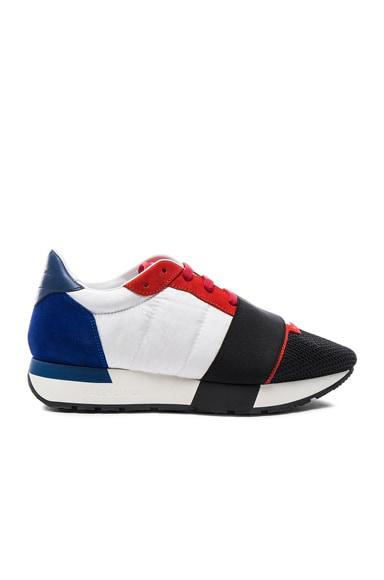 Balenciaga USA Runner Sneakers in Red Multi