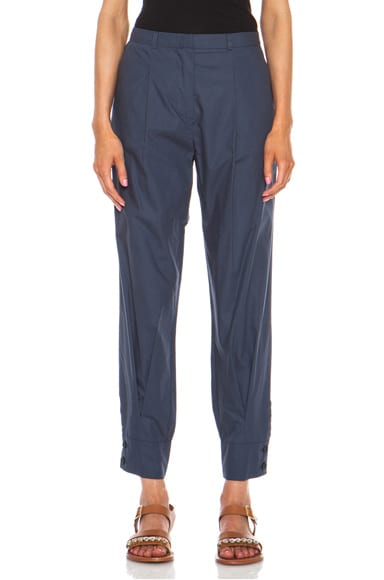 Poplin Cotton Slouch Pant