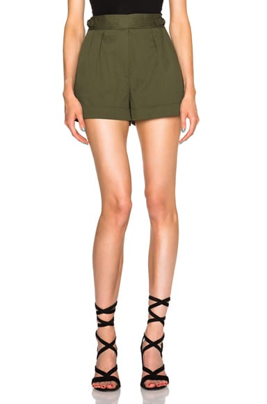 Barbara Bui Pleated Shorts in Green