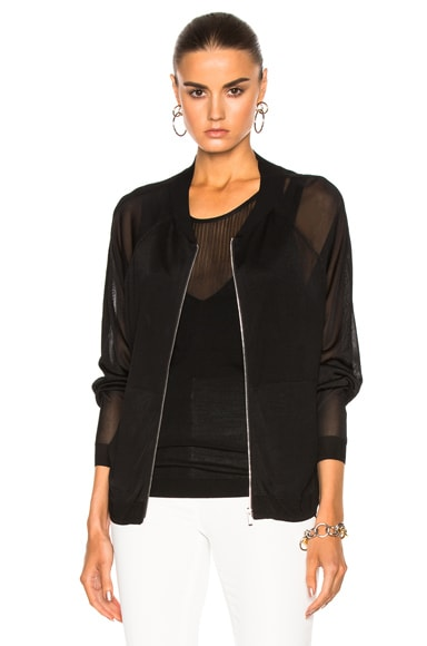 Barbara Bui Zip Sweater in Black