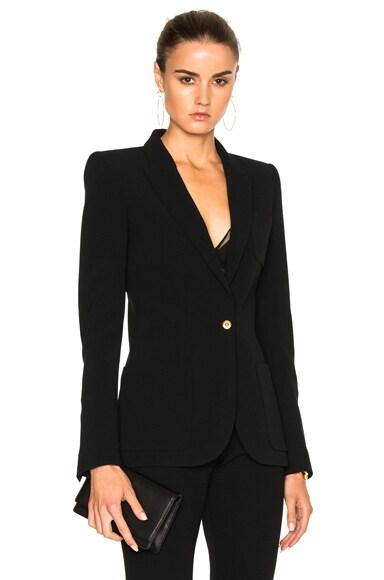 Barbara Bui Classic Cady Blazer in Black