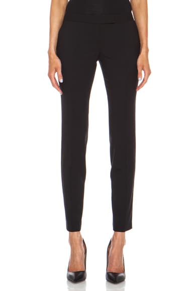 Cropped Wool-Blend Trouser