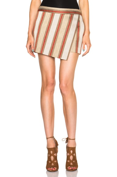 Barbara Bui Foldover Skirt in Metallic Orange