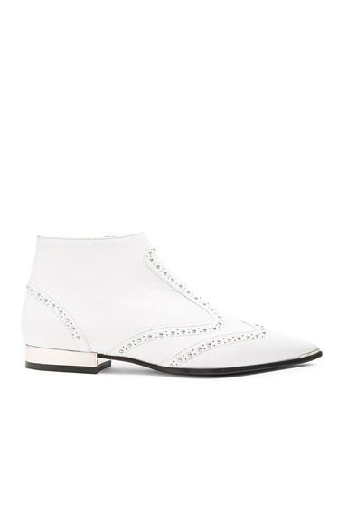 Barbara Bui Leather Rockabilly Boots in White