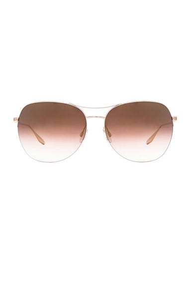 Barton Perreira Quimby Sunglasses in Gold & Gold Rush