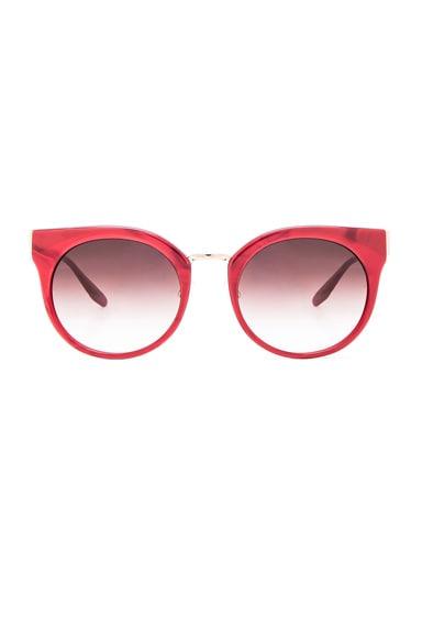 Barton Perreira Dovima Sunglasses in Crushed Heart & Gold