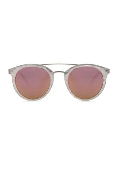 Barton Perreira for FWRD Dalziel Sunglasses in Ivory Pearl & Lilac