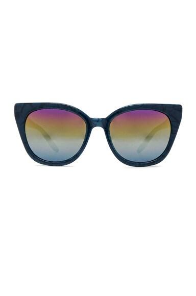 Barton Perreira FWRD Exclusive Shirelle Sunglasses in Blue Velvet