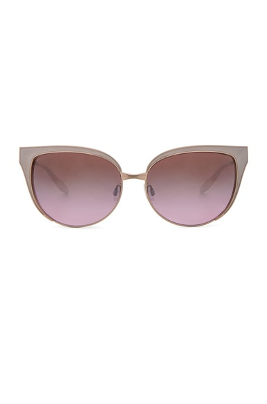 Barton Perreira for FWRD Valerie Sunglasses in Ivory & Lilac
