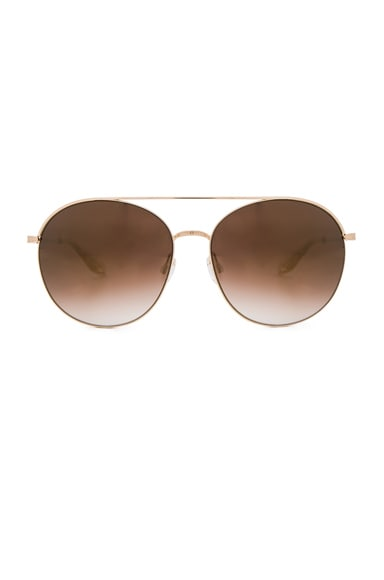 Barton Perreira Luna Sunglasses in Gold Rush Mirror