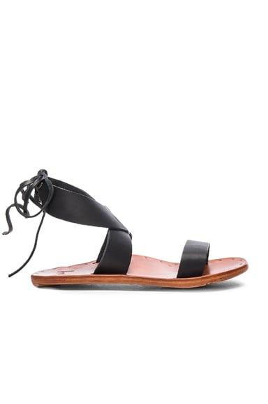 Beek Leather Cardinal Sandals in Black & Tan